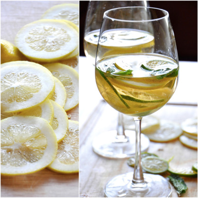 efccooking:  Mint Citrus White Wine Sangria