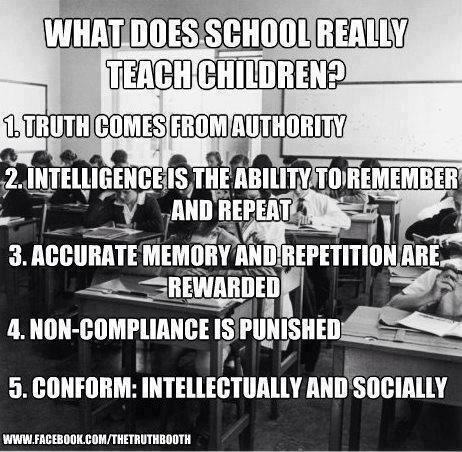 ladyofannwyn:  cosmic-rebirth:  What does school really teach children?  Oops