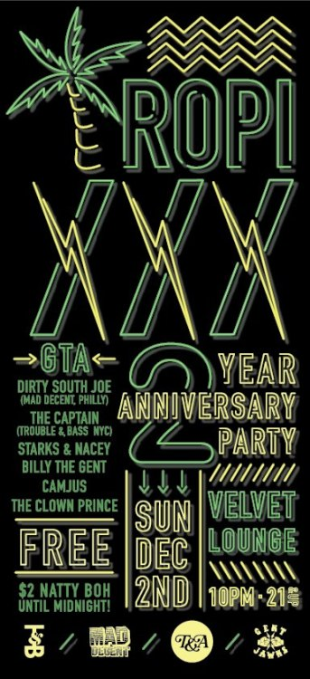 Next Sunday in Washington DC : Tropixxx 2 year Anniversary