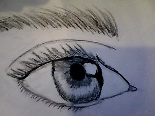 A realistic eye drawn by Me :)
