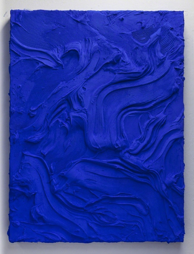 Jason Martin - Lent, 2011 pure pigment on aluminium 85 × 65 2/5 in / 216 × 166 cm