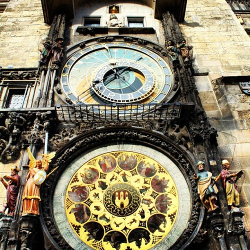 Astronomical clock… Supposedly the 2nd most disappointing tourist attraction after the Mona Lisa  (at Pražský Orloj | Astronomical Clock)
