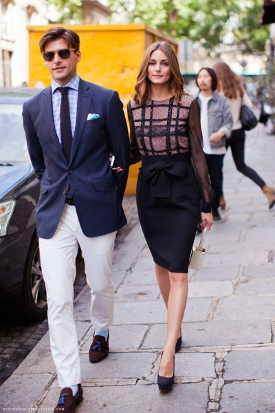 My pick for best-dressed couple of 2012 (or of all time) is socialite and style star Olivia Palermo and her model boyfriend, Johannes Huebl! Photo Credit: stockholm-streetstyle.com