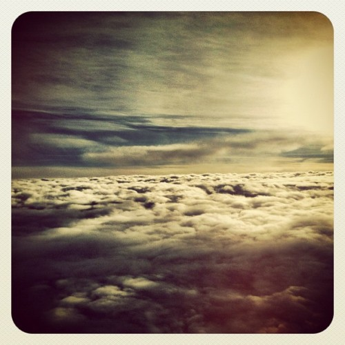 floating above the #clouds. #sky #beautiful #sunset #airplane