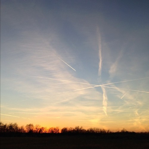 #fmsphotoaday November, Day 25: Sky #sky #sunset #nofilter #horizon #silhouette #autumn #fall #nature
