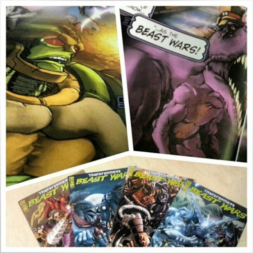 Yay! My Beast Wars: The Gathering comics arrived! Loved the CG series! Dinobot is still the greatest hero to have walked the Earth!