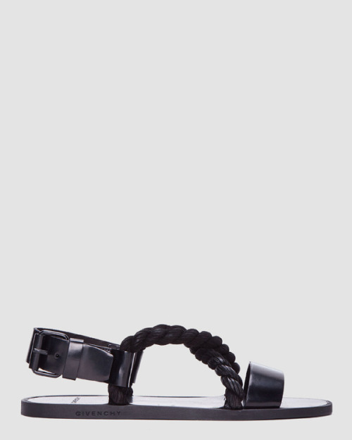 themissive:  Black Rope Sandals by Givenchy