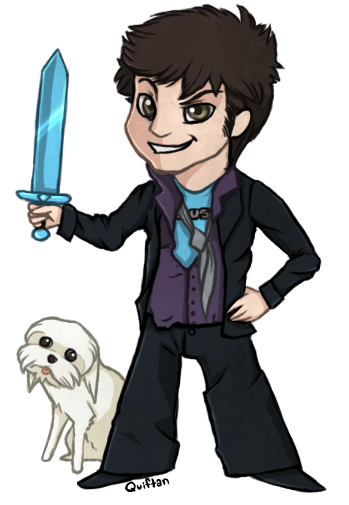 quiftan:  Toby and his diamond sword. Also, Gryphon being a derp.