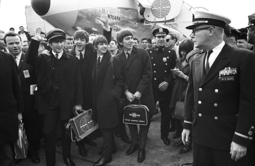 beatlesneveroutofstyle:  My Grandpa worked at the airport for many years and was right there next to The Beatles on this day. I always find it so amazing that years later his grandkids would be obsessed with them!