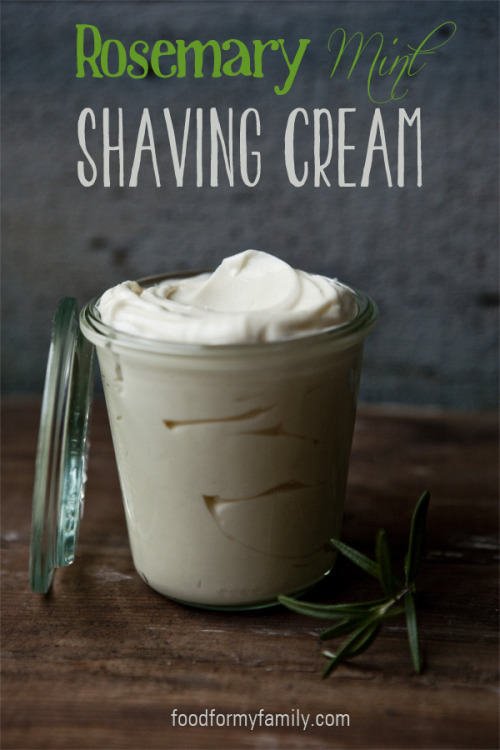 diychristmascrafts:  DIY Rosemary Mint Shaving Cream Tutorial and Recipe from Food for My Family here. I get messages frequently about what DIY gifts to give men. This supposedly lasts outside the fridge for about a month. I will have to research where to get some of these ingredients cheaply but I assume most are available at large supermarkets, health food stores or Whole Foods.  For more manly gifts go to my other blog: truebluemeandyou.tumblr.com/tagged/manly-gifts
