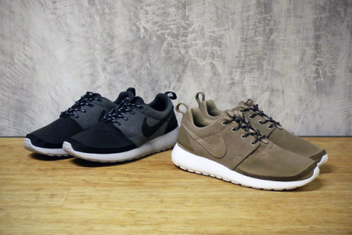 Roshe Run Premium Autumn/Winter 2012 It's been a popular silhouette this year and the Roshe Run has an upgrade with these premium up for offer. The design in general is simple and has remained that way with a waterproof nubuck and oilcloth panel.  Available soon from Nike retailers.