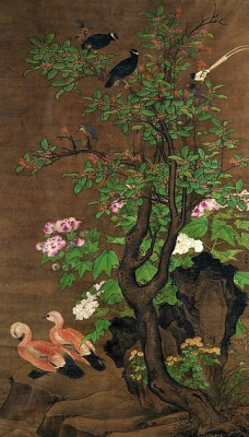 stilllifequickheart:  Unknown (Chinese) Flowers and Birds 17th century