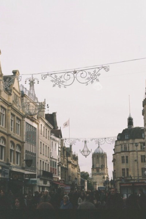 Christmas lights in City of Oxford