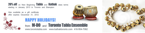 torontotablaensemble:  Happy Holidays