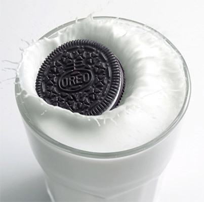 Oreo Cookies It's real simple. Oreos + Glass of Milk = Perfection! 'Nuff said.