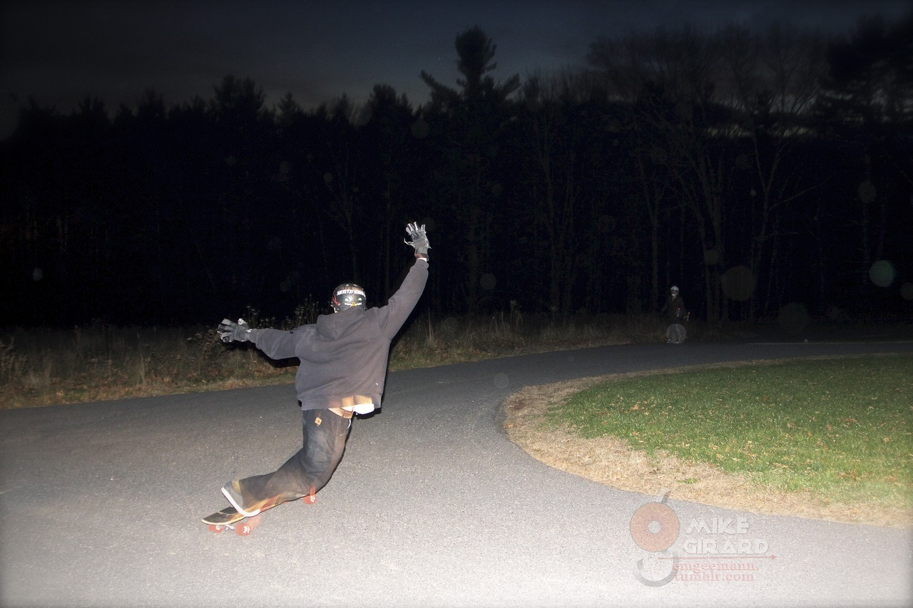 Steezin'. Graham Feddersen, nighttime toeside check. Photo by me. -Mike