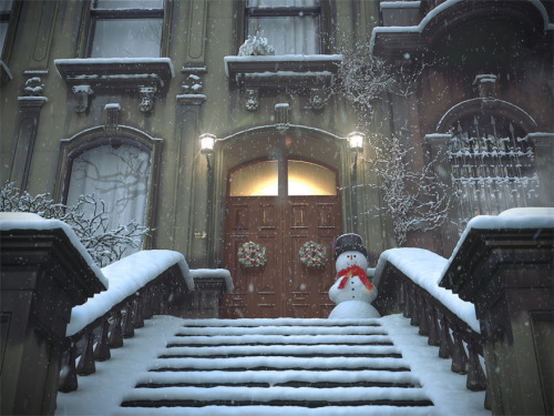 bluepueblo:  Snow Entry, Brooklyn Heights, New York photo via christmascher