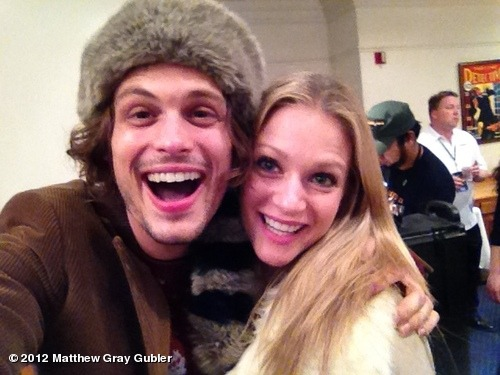 gublernation:  me and A.J getting ready for the 2012 Hollywood Christmas Parade! View more Matthew Gray Gubler on WhoSay