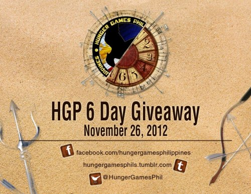 #HGP6DayGiveaway Day 5 Contest! Tumblr Reblog!  Mechanics: Just reblog this poster  Fill out the form http://tinyurl.com/HGPDay5  Contest ends 11pm For Philippine residents Prize: The Hunger Games Functional Cube
