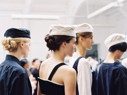 backstage at margaret howell by vanessa jackman.