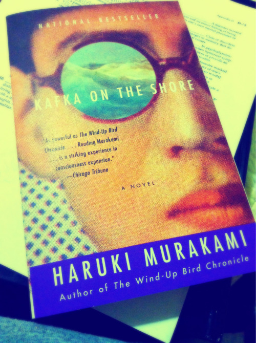 thecosmicuniverse:  My long awaited journey with Haruki Murakami begins now with Kafka on the Shore! Extremely excited to jump into metaphysical literature with him.  💘