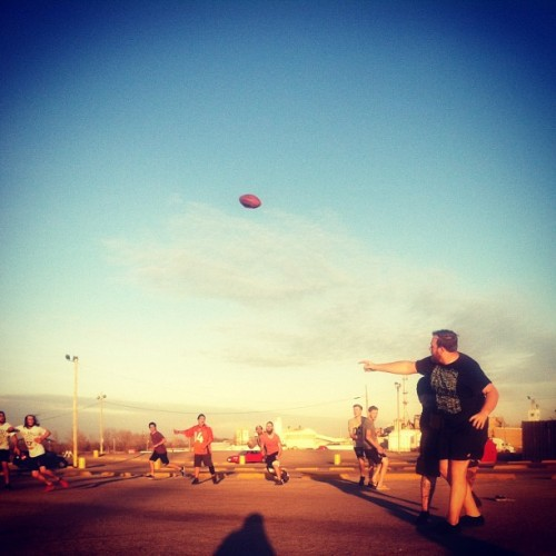tayjardine: Southern Air Tour prison football. There's a lot of butt slapping going on