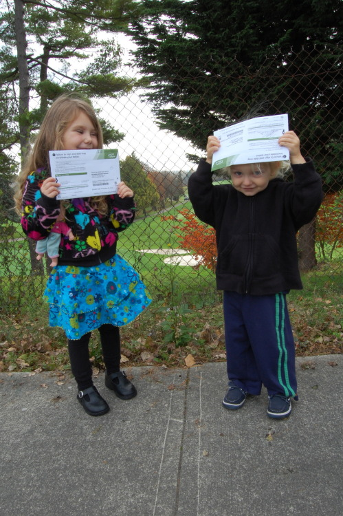 Ilah and Nyjah helped Mom and Dad vote, November 6th 2012.