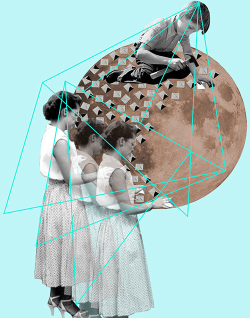 "CEREN KILIC Awesome collages by Istanbul artist Ceren Kilic. We love this line from her artist statement: ""Her work is influenced by the contrast between solid look of the future and the sophisticated way of living of the past."""