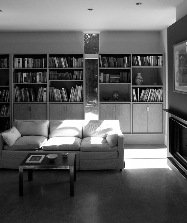 black + white house | living detail ~ erich remash architect