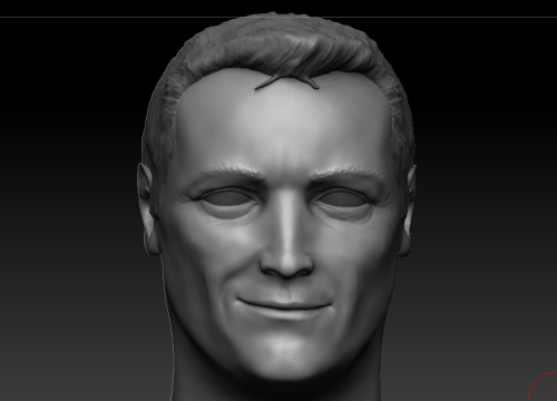 A work in progress of Matt LeBlanc (Joey Tribbani from Friends).