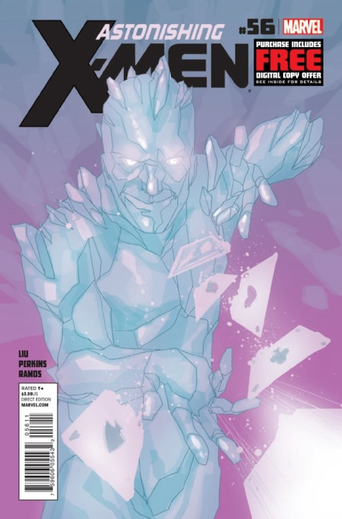 Astonishing X-Men #56, January 2013, written by Marjorie Liu, penciled by Mike Perkins