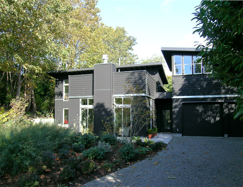 black + white house ~ erich remash architect