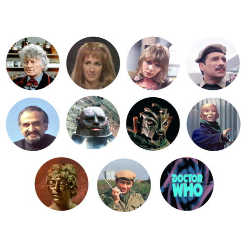 DOCTOR WHO 3rd Doctor Jon Pertwee Set of 11 - 1 Inch Pinback Buttons Pins Badges - $4.99 25% OFF SALE! SUNDAY FUNDAY NOVEMBER 25TH 2012! - Use the coupon code SUN25 at checkout to receive 25% off your order!
