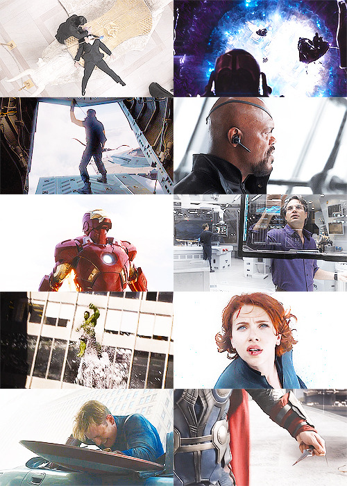 the avengers + white (asked by thebarbiedklaus)