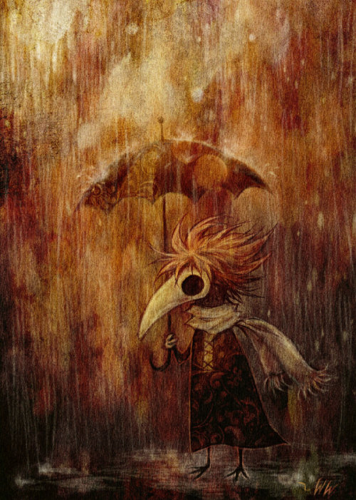 crow-of-sorrow:  Standing in the Rain, I saw my life go away Rain by ~Woolsock-weirdo