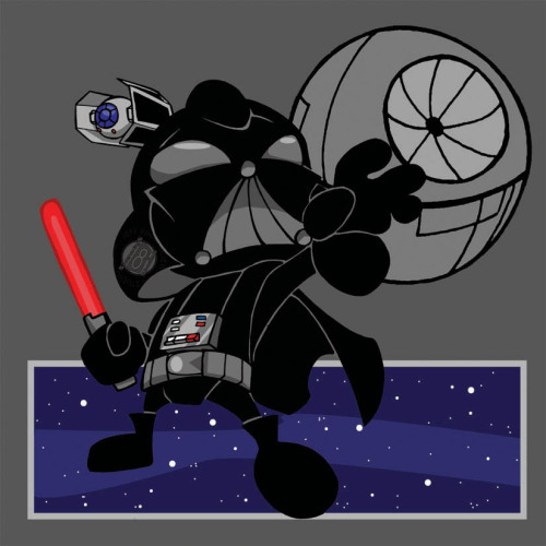It's Darth Vader!!! BUT AS A KID!!! (no volvos were harmed making this drawing) Chibi Darth Vader by ~Sideways8Studios