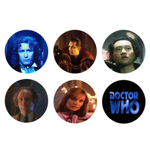 DOCTOR WHO 8th Doctor Paul McGann Set of 6 - 1 Inch Pinback Buttons Pins Badges - $3.99 25% OFF SALE! SUNDAY FUNDAY NOVEMBER 25TH 2012! - Use the coupon code SUN25 at checkout to receive 25% off your order!
