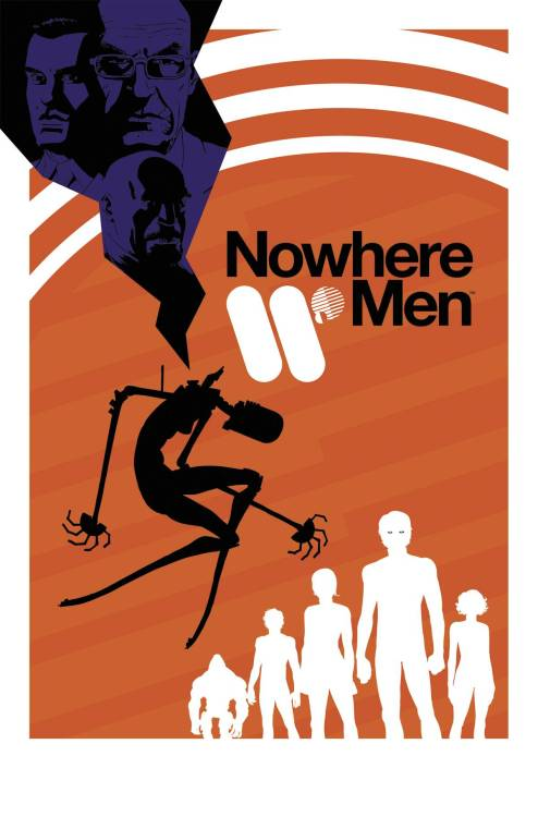 "Market Monday Nowhere Men #1, colored by Jordie Bellaire  ""SCIENCE IS THE NEW ROCK 'N' ROLL."" So said Dade Ellis, Simon Grimshaw, Emerson Strange and Thomas Walker at the dawn of a new age of enlightenment that ushered in a boom in scientific advancement. As the research supergroup World Corp., they became the most celebrated scientists of all time. They changed the world - and we loved them for it. But where did it all go wrong? And when progress is made at any and all cost, who ultimately pays the price?  ~Preview~"
