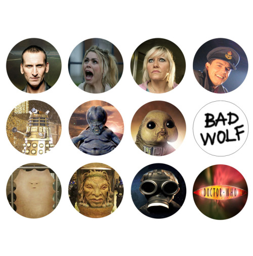 DOCTOR WHO 9th Doctor Christopher Eccleston Set of 12 - 1 Inch Pinback Buttons Pins Badges - $4.99 25% OFF SALE! SUNDAY FUNDAY NOVEMBER 25TH 2012! - Use the coupon code SUN25 at checkout to receive 25% off your order!