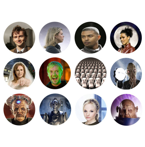 DOCTOR WHO 10th Doctor David Tennant Set of 12 - 1 Inch Button Magnets - $6.99 25% OFF SALE! SUNDAY FUNDAY NOVEMBER 25TH 2012! - Use the coupon code SUN25 at checkout to receive 25% off your order!