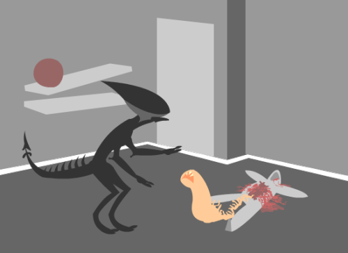 hcontrary:  Aliens fan art, Xenomorph & Chest Buster
