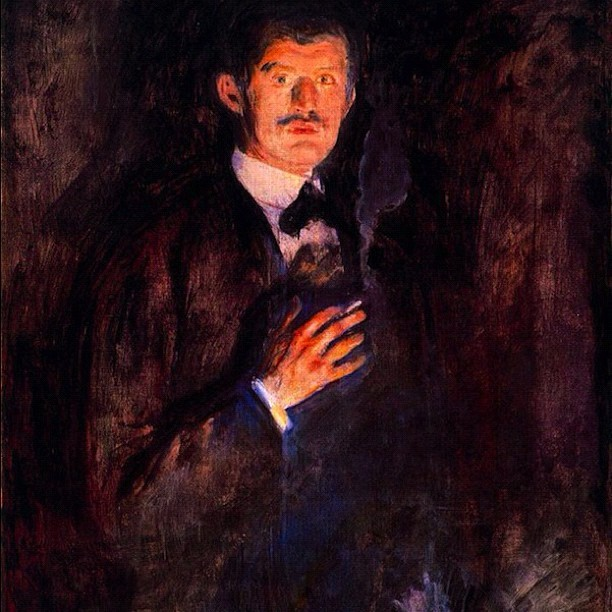 Edvard Münch self portrait #painting #art was posted on Instagram http://instagr.am/p/Se0nz0LFMM/