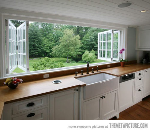 quick-meme:  Now this is a kitchen with an awesome window…http://quick-meme.tumblr.com