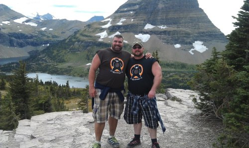 Bo & Matt at Glacier NP
