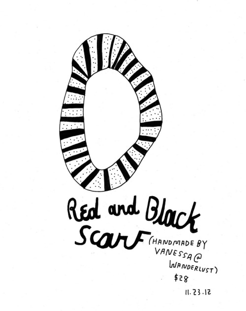 Daily Purchase Drawing for 11.23.12  Red & Black Scarf from @shopwanderlust