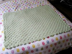 - baby - i've just finished knitting this pretty mint-green baby blanket for our own little bean. quite possibly the first knitting project i've ever completed with NO mistakes!!! posted on my blog at: http://www.laaperdesign.com/2012/11/my-latest-creation-baby-blanket-with.html