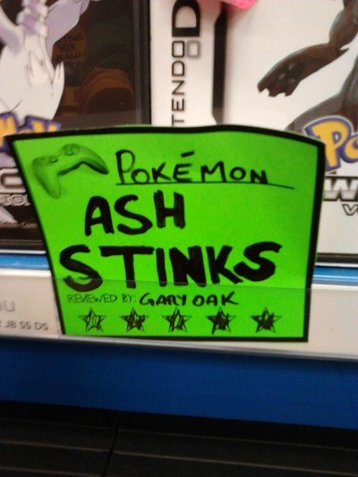 Pokemon Black & White Gary really doesn't like Ash does he? This is his second tirade. This is the first. - via reddit