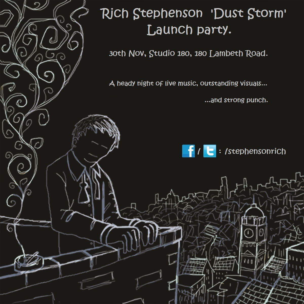 The Launch Party for ' Dust Storm' by Rich Stephenson. This is a Private Event.