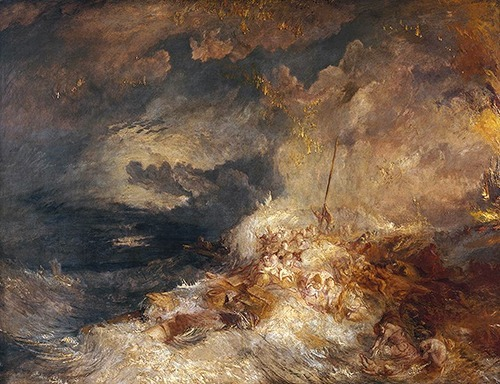 kisses-sweeter-than-wine:  J. M. W. Turner, A Disaster at Sea, ca. 1835