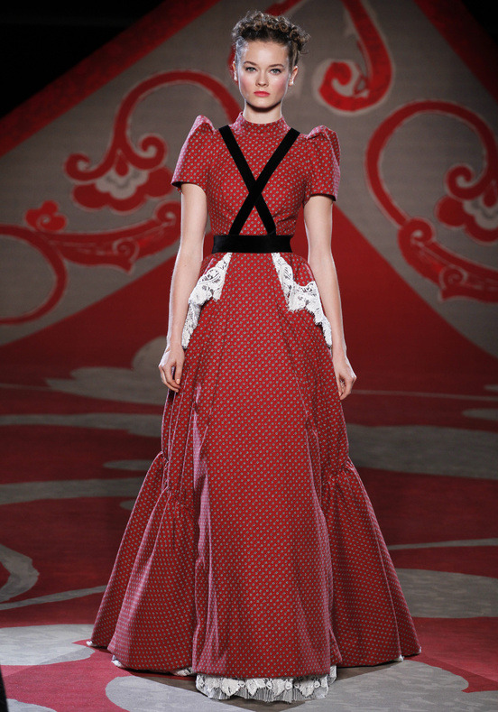 fringefashion:  Red dress by Ulyana Sergeenko, f/w 12-13